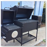 "44"" Revese Flow Wood Smoker with Pellet Auger"
