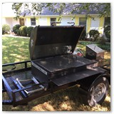 4ft gas grill with deep fryer