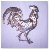 Stamped Steel Rooster