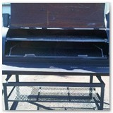 6' Charcoal Wood Smoker on Stand