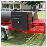 "8' x 30"" Charcoal wood smoker with pipe burner and gas powered warmer/smoker cooker box"