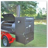 "New 7'x30"" with Optional Front Mounted Charcoal Grill and Rear Mounted Warmer, Smoker, Cooker Box"