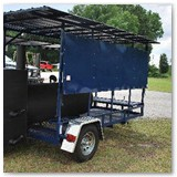 Options section-roof and lift-up weather panels available on all trailers