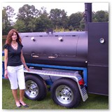 "12' ft. x 37"" Dual hog cooker"