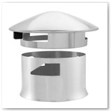 SmokeWare SS Vented Chimney Cap for Kamado Joe