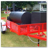 "10' x 30"" w/ grill/griddle & optional gas warmer/smoker cooker box"