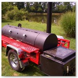 "9' x 24"" hog cooker and pig roasters w/ grill griddle option"